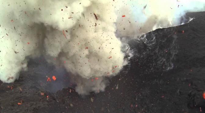 Drone Footage Inside Erupting Volcano